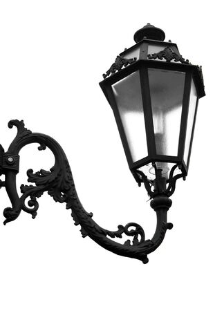 decorative street lamp isolated Stock Photo - 8021747