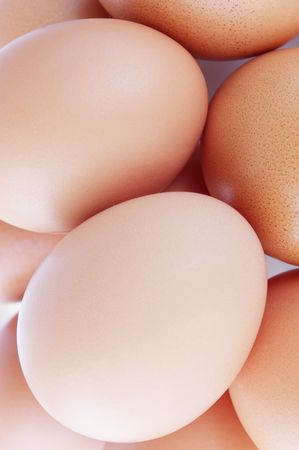 consumables: fresh eggs close up