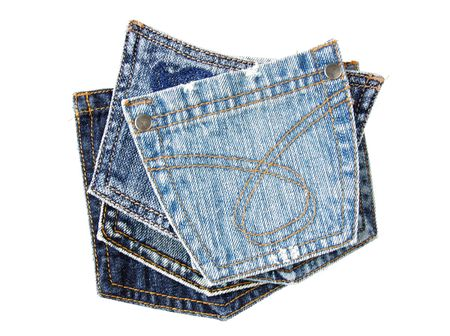 jeans pockets isolated on white Stock Photo