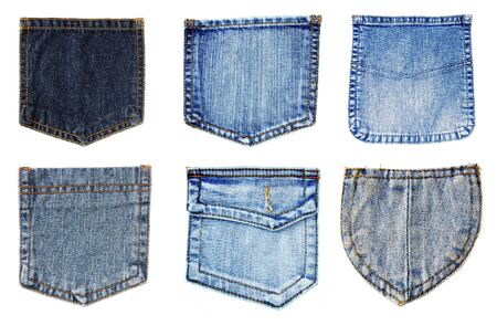 jeans fabric: jeans pockets isolated