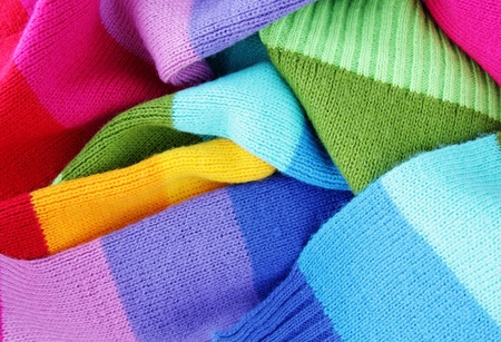 winter clothes: multicolored woolen soft texture