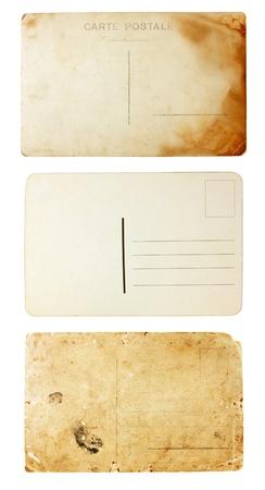 burned: parte posterior de la vieja ver tarjetas postales