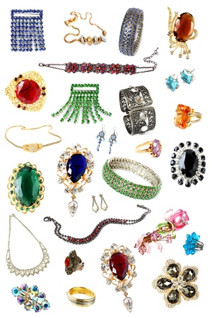 brooch: collection of feminine accessories