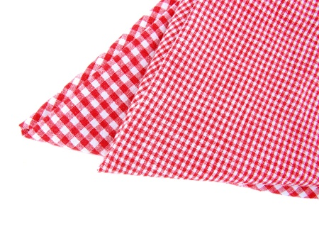 Checked tea towels isolated photo