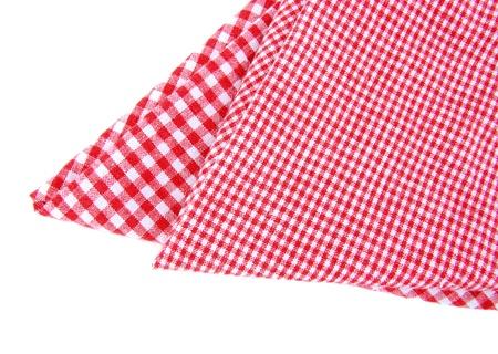 tela algodon: Facturado de toallas de t� aislados Foto de archivo