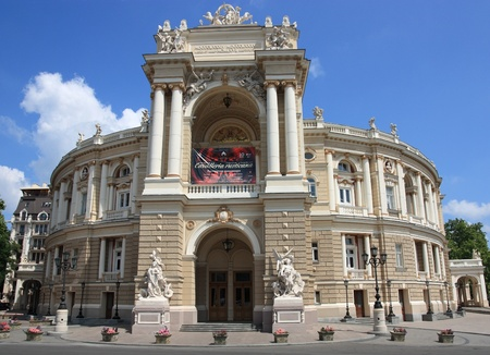 odessa: Odessa,Ukraine - July 10, 2011 - The Odessa National Academic Theater of Opera and Ballet is the oldest theater in Odessa, Ukraine. The Theater is the most famous edifices in Odessa.
