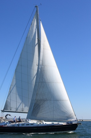 sailing boat at sea Stock Photo
