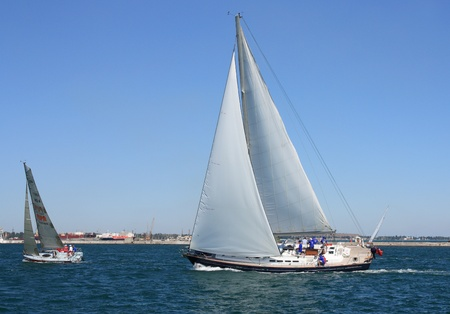 "Odessa, Ukraine – August 24,2011: All-Ukrainian sailing regatta of cruiser sailing yachts ""Black Sea Cup"", dated for Ukraine's Independence Day ."