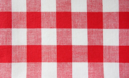 checkered red white  tablecloth Stock Photo - 10697123