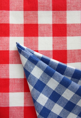 picnic blanket: red white blue chequered