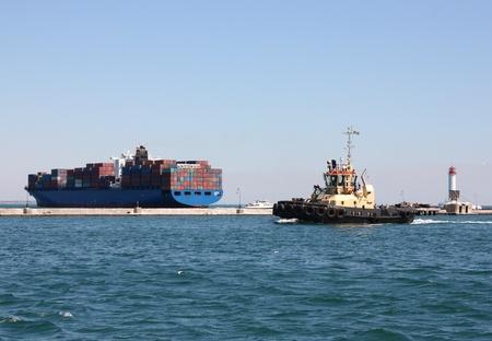 cargo vessel: cargo ships at sea