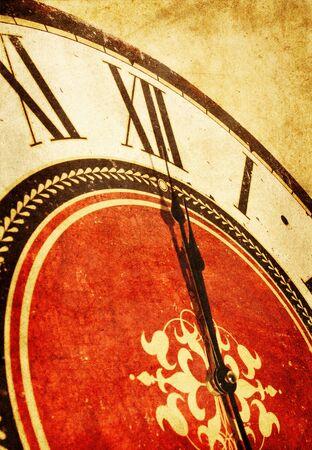 midnight: midnight on vintage clock