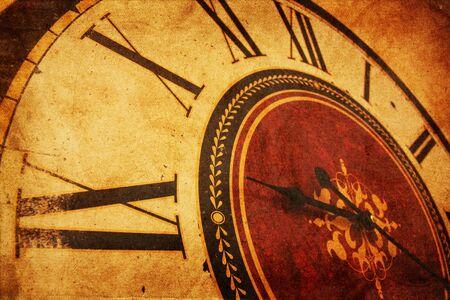 Vintage clock grunge photo