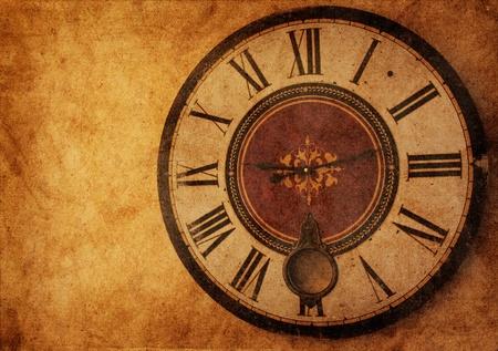 numeros romanos: Grunge reloj vintage