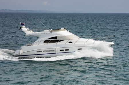speed boat: luxury yacht