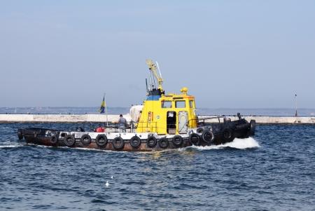 tug boat: A tug boat Stock Photo