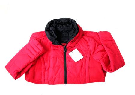 red jacket on white background