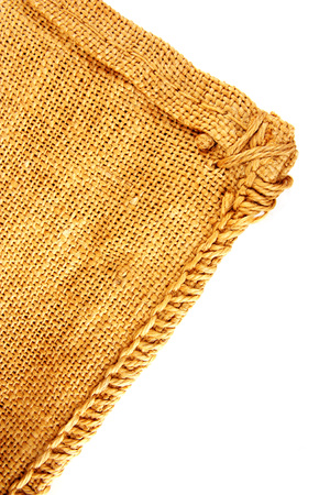 hessian texture isolated on white background