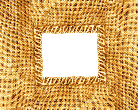 burlap texture isolated on white background