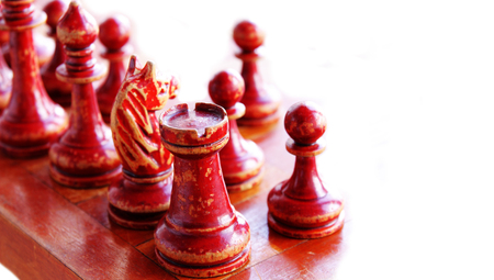 chess figures isolated on white Stock Photo