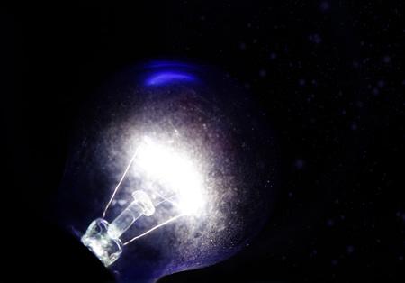 Dark blue lamp