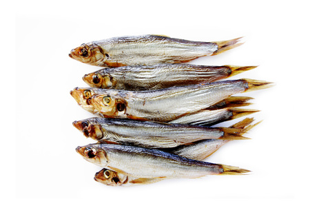 baltic smoked fish isolated