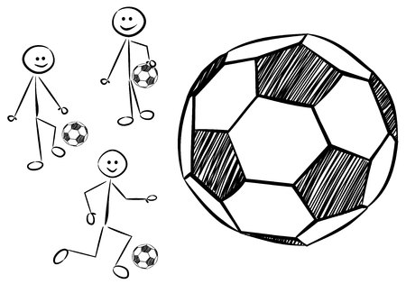 defending: stickman plays soccer (football)