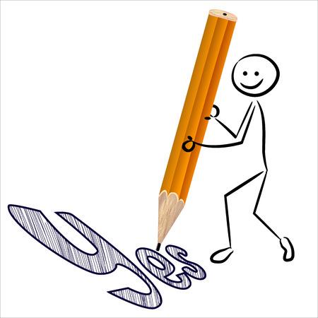 writes: Stickman writes yes