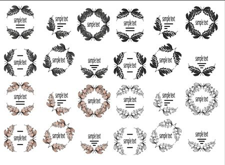 crimp: collection of floral black and white frames