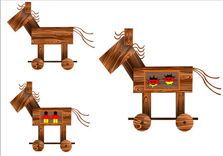 Symbol for governmental trojan horse. A spyware, which is in regular political discussion in germany