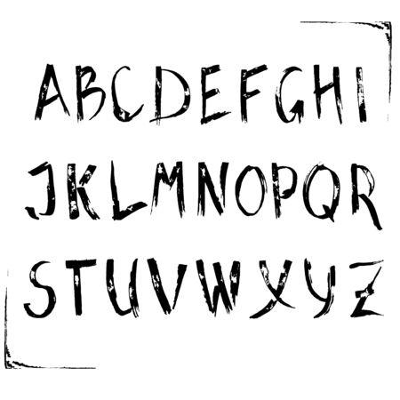 Hand written english Alphabet.
