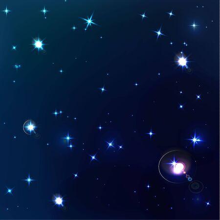 beautiful background of dark blue night sky Illustration