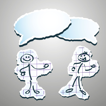 stickman communicating with each other