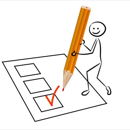 revise: Stickman votes Illustration