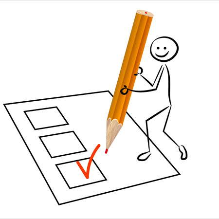 Stickman votes Illustration