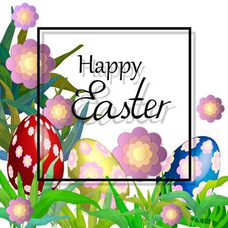 Easter background. Happy eater card. Easter poster Illustration