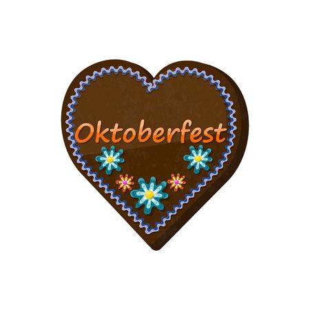 Traditional bavarian souvenir from Oktoberfest. Gingerbread heart
