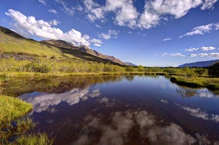 Lagoon at Glenorchy, New Zealand Stock Photo