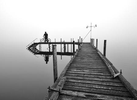 Secluded Pier at Lake Brunner