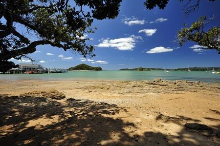 Beach near Paihia, Bay of Islands, New Zealand Stock Photo
