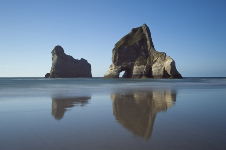 south island new zealand: The view of the famous Archway Islands, New Zealand