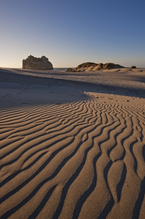 Sand dunes near Wharariki Beach, New Zealand Stock Photo