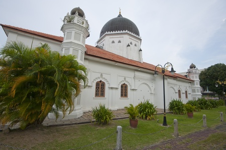 GEORGETOWN, PENANG - MARCH 10: The view of main dome and minaret of Kapitan Keling Mosque, Penang on March 10, 2013. Editorial