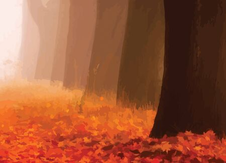 Abstract Illustration of Autumn