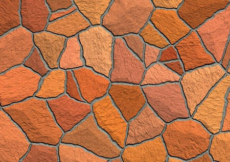 Detailed texture of the stone pavement  Stock Photo