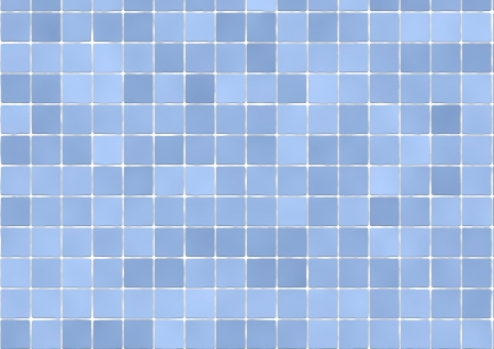 Background of bathroom tiles in light blue color Stock Photo