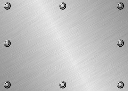 Texture of silver metal surface with eight fastened bolts. Stock Photo - 21463584