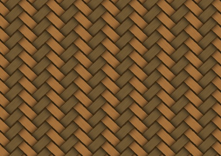 Background of wicker which is woven fiber photo
