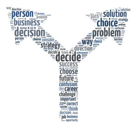 toma de decisiones: Palabras ilustración del concepto de la toma de decisiones sobre el fondo blanco Foto de archivo