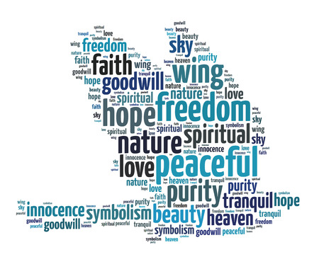 Words Illustration of the bird of peace